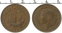 Изображение Монеты Великобритания 1/2 пенни 1944 Медь XF