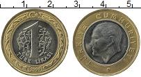 Изображение Монеты Турция 1 лира 2009 Биметалл UNC- Кемаль Ататюрк