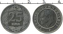 Изображение Монеты Турция 25 куруш 2009 Медно-никель UNC- Кемаль Ататюрк