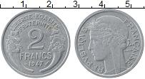 Изображение Монеты Франция 2 франка 1947 Алюминий XF Свобода