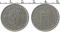 Изображение Монеты Норвегия 1 крона 1957 Медно-никель XF Хаакон VII