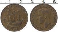 Изображение Монеты Великобритания 1/2 пенни 1949 Медь XF Георг VI