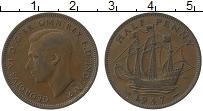 Изображение Монеты Великобритания 1/2 пенни 1947 Медь XF