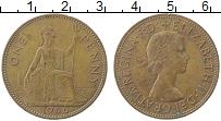 Изображение Монеты Великобритания 1 пенни 1966 Медь XF Елизавета II.
