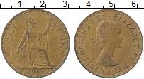 Изображение Монеты Великобритания 1 пенни 1962 Медь XF Елизавета II.