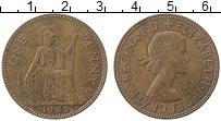 Изображение Монеты Великобритания 1 пенни 1965 Медь XF Елизавета II.