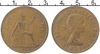 Изображение Монеты Великобритания 1 пенни 1964 Медь XF Елизавета II.