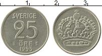 Изображение Монеты Швеция 25 эре 1953 Серебро XF Густав VI Адольф