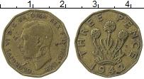 Изображение Монеты Великобритания 3 пенса 1942 Латунь VF