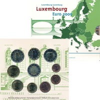 Изображение Подарочные монеты Люксембург Евронабор 2009 года 2009  BUNC В набор входят восем