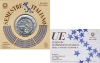 Изображение Подарочные монеты Италия 5000 лир 1996 Серебро UNC- Монета посвящена пре