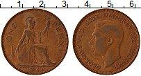 Изображение Монеты Великобритания 1 пенни 1940 Бронза XF Георг VI