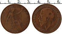Изображение Монеты Великобритания 1 пенни 1917 Бронза XF Георг V