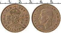 Изображение Монеты Великобритания 2 шиллинга 1950 Медно-никель XF Георг VI