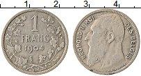 Изображение Монеты Бельгия 1 франк 1904 Серебро XF Леопольд II