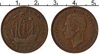 Изображение Монеты Великобритания 1/2 пенни 1940 Бронза XF