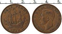 Изображение Монеты Великобритания 1/2 пенни 1943 Бронза XF Георг VI