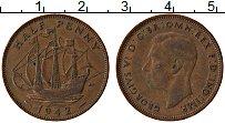 Изображение Монеты Великобритания 1/2 пенни 1942 Бронза XF Георг VI