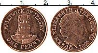 Изображение Монеты Остров Джерси 1 пенни 2006 Бронза UNC- Елизавета II.