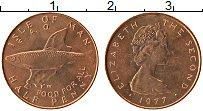 Изображение Монеты Остров Мэн 1/2 пенни 1977 Бронза UNC- Елизавета II. ФАО