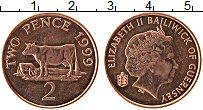 Изображение Монеты Гернси 2 пенса 1999 Бронза UNC- Елизавета II