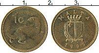 Изображение Монеты Мальта 1 цент 1995 Латунь UNC-