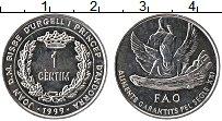 Изображение Монеты Андорра 1 сентим 1999 Алюминий UNC- ФАО