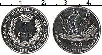 Изображение Монеты Андорра 1 сентим 1999 Алюминий UNC