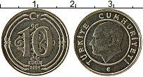 Изображение Монеты Турция 10 куруш 2009 Медно-никель UNC-