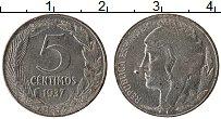 Изображение Монеты Испания 5 сентим 1937 Железо XF