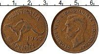 Изображение Монеты Австралия 1 пенни 1943 Бронза XF Георг VI