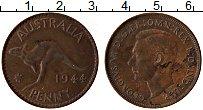 Изображение Монеты Австралия 1 пенни 1944 Бронза XF Георг VI