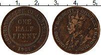 Изображение Монеты Австралия 1/2 пенни 1921 Бронза XF Георг V