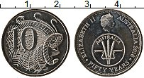 Изображение Монеты Австралия 10 центов 2016 Медно-никель UNC-