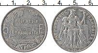 Изображение Монеты Полинезия 5 франков 1991 Алюминий XF