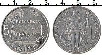 Изображение Монеты Полинезия 5 франков 1994 Алюминий XF