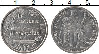 Изображение Монеты Полинезия 2 франка 2002 Алюминий UNC-