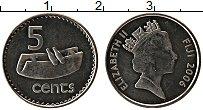 Изображение Монеты Фиджи 5 центов 2006 Медно-никель UNC- Елизавета II.