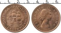Изображение Монеты ЮАР 1 пенни 1960 Бронза UNC- Елизавета II