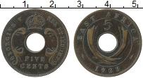 Продать Монеты Восточная Африка 5 центов 1925 Бронза