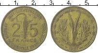 Изображение Монеты Центральная Африка 25 франков 1957 Латунь XF
