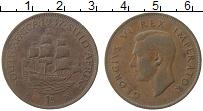 Изображение Монеты ЮАР 1 пенни 1937 Бронза XF Георг VI
