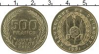 Продать Монеты Джибути 500 франков 1991