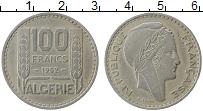 Изображение Монеты Алжир 100 франков 1952 Медно-никель XF