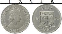 Изображение Монеты Фиджи 1 флорин 1957 Медно-никель XF