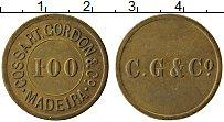 Изображение Монеты Мадейра 100 рейс 0 Латунь XF