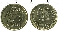 Продать Монеты Польша 2 гроша 2014 сталь покрытая латунью