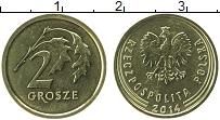 Изображение Монеты Польша 2 гроша 2014 Латунь UNC-