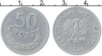 Изображение Монеты Польша 50 грош 1949 Алюминий XF