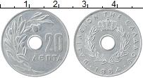 Изображение Монеты Греция 20 лепт 1964 Алюминий UNC-
